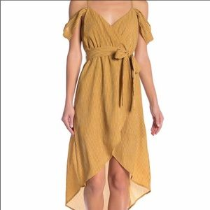 Yellow surplice dress